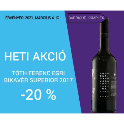 Tóth Ferenc Egri Bikavér Superior 2017 (0,75l)