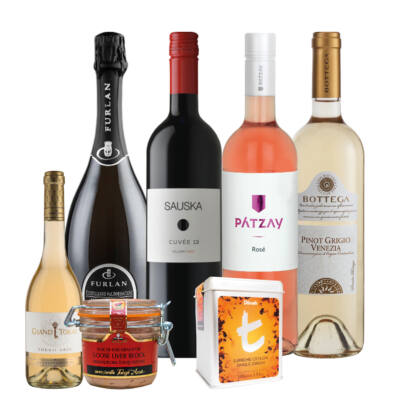 Borcsomag-ajándékcsomag-bor-tea-Veritas Borwebshop