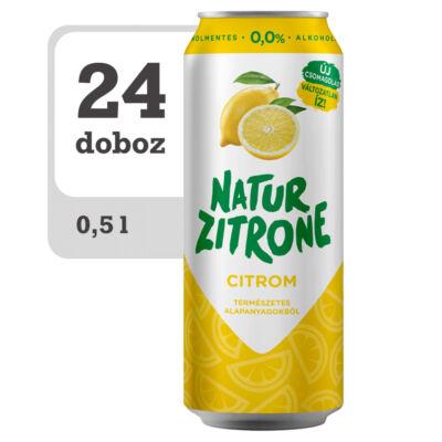 Natur Zitrone alkoholmentes, citrom ízű szénsavas ital -Onlione-Veritas