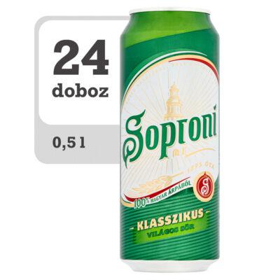 Soproni Klasszikus világos sör-Online-Veritas