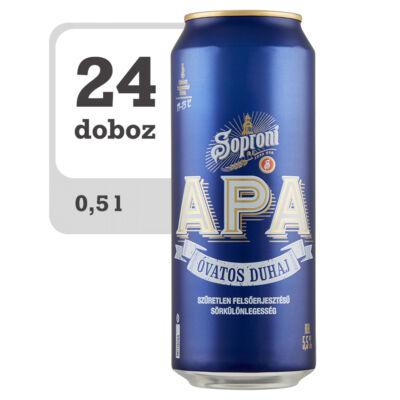 Soproni Óvatos Duhaj APA minőségi világos sör -Online - Veritas
