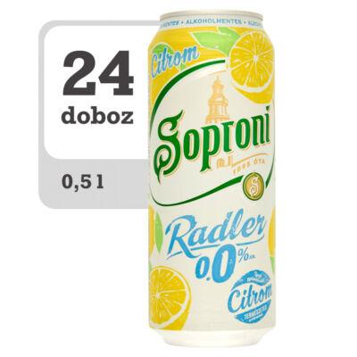 Soproni Radler citromos alkoholmentes sörital-Online-Veritas
