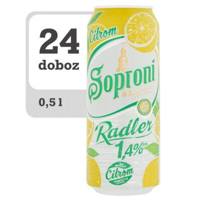 Soproni Radler citromos sörital -Online-Veritas