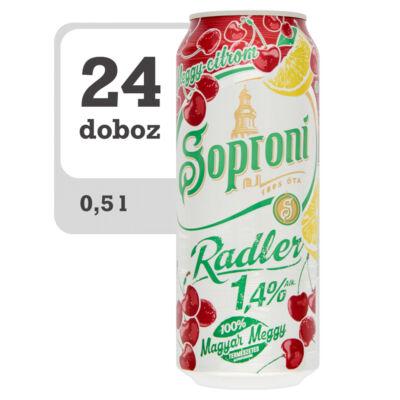 Soproni Radler meggy-citromos sörital-Online-Veritas