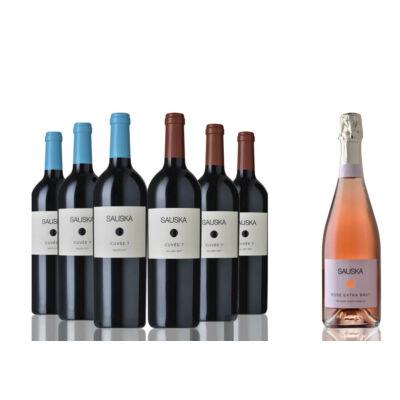 Borcsomag - Sauska Cuvée 7 : 3 palack Cuvée 7 Siklós 2017 - 3 palack Cuvée 7 Villány 2017+ajándék pezsgő