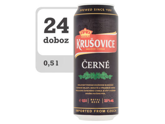 Krušovice Černé eredeti cseh barna sör - Online-Veritas