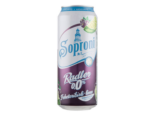 Soproni Radler 0,0% Feketeribizli-lime-Veritas