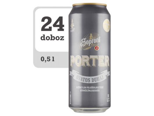 Soproni Óvatos Duhaj Porter minőségi barna sör -Online-Veritas