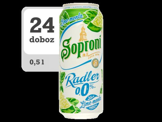 Soproni Radler lime-mentás alkoholmentes sörital -Online-Veritas