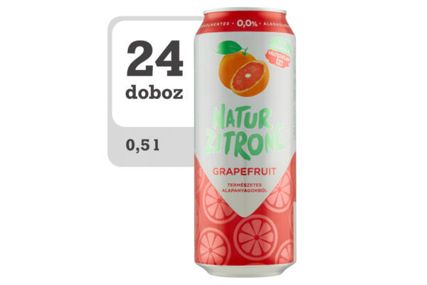 Natur Zitrone alkoholmentes grapefruitos szénsavas ital-Veritas webshop